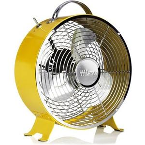 Tischventilator 25 cm gelb, Geschwindigkeit: 1385 U/m