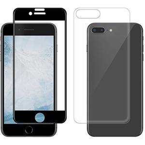 360 Grad 3D-Schutzglas für Apple iPhone 7/8 Plus - schwarz/transparent