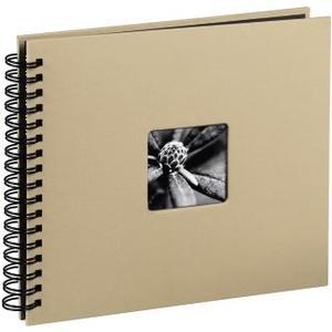 Spiral-Album Fine Art, 36 x 32 cm, 50 schwarze Seiten, Taupe