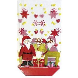 Weihnachtsgebäck Geschenkbeutel Santa 10 Stück
