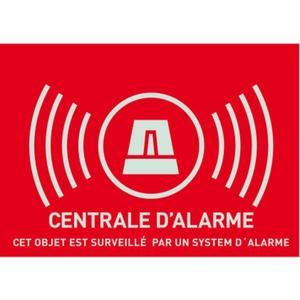 """Warn Aufkleber """"Alarmanlage"""", französisch Gross (Abmasse 148x105 mm)"""