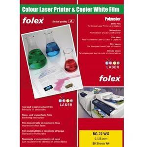 Laserfolie Color-Laser, BG-72 WO , A4, .125 mm, 50 Blatt