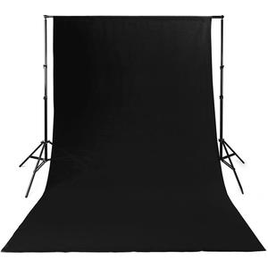 Kulisse für Fotostudio | 2,95 x 2,95 m | Schwarz