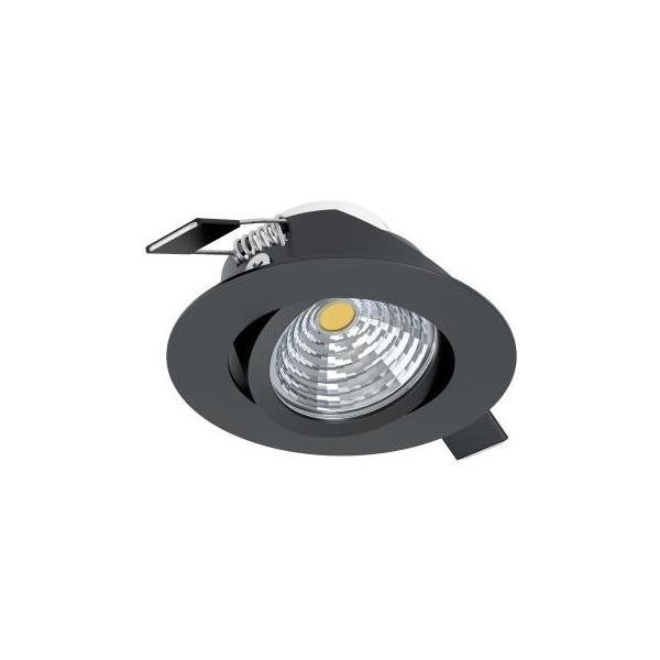 SALICETO 1 Einbauspot schwarz EGLO / inkl. 1x LED 6W