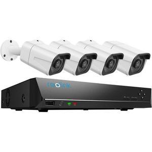8-Kanal 4K Ultra HD Überwachungskamerasystem 24/7 inkl. 4x 8MP Bullet Kameras mit hochauflösender Nachtsicht und 2TB Harddrive