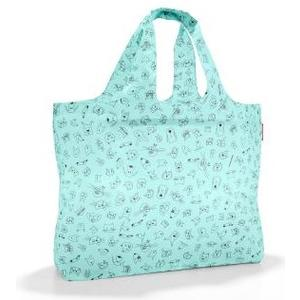 Badetasche mini max beachbag cats and dogs mint, 40 l, 62.5 x 42 x 13 cm