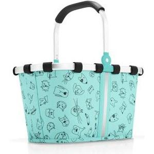 Einkaufskorb carrybag xs kids cats and dogs mint 5 l, 33.5 x 18 x 19.5 cm