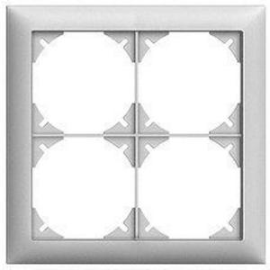 EDIZIOdue 4er Abdeckrahmen, 4-fach Rahmen mit Einheitsausschnitt, weiss
