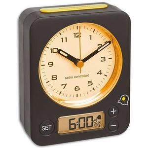 COMBO Funk-Wecker schwarz gelb ohne Batterie