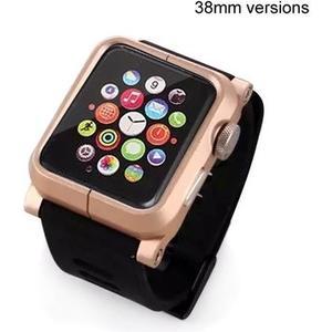 Metallcase für Apple Watch (38mm) - gold/schwarz