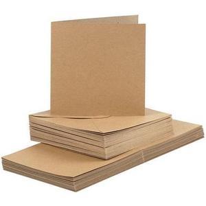 Karten 220 g/m2 und Couvert natur, 50 Stück, 15 x 15 cm