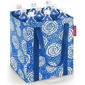 Flaschentasche bottlebag batik strong blue, 9 Flaschen (max. 0.75 l)