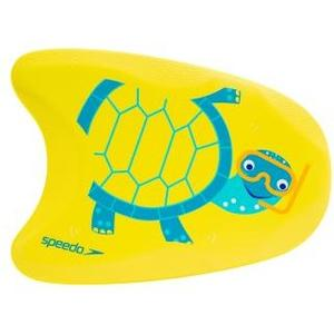 Schwimmbrett Turtle Printed Float emire yellow/turqoise