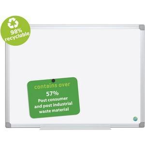Whiteboard 150 x 100 cm Emaille-Oberfläche, mit Aluminiumrahmen