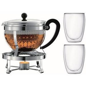 Chambord Tee Set Teebereiter 1.3 L, inkl. Rechaud 2 Pavina Gläser 0.35 L