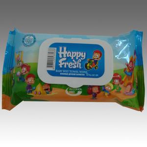 Happy Fresh Feuchttücher Blau mit Fliptop Verschluss