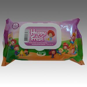 Happy Fresh Feuchttücher Pink mit Fliptop Verschluss