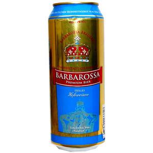 Barbarossa Premium Bier Helles Hefeweizen 24 Dosen á 0,5 l