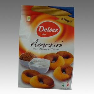 Delser Amorini con Panna e Cacao