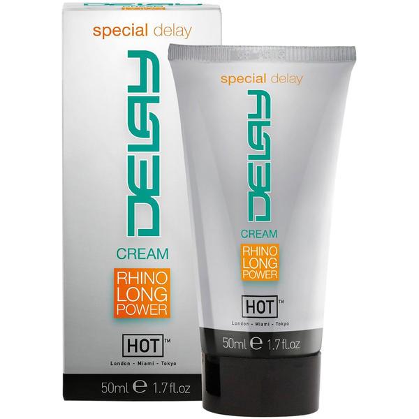DELAY CREAM - RHINO LONG POWER [Hot] 50 ml