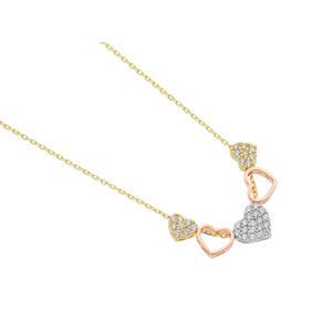 Feichtinger - Collier 585/- Gelbgold, Weißgold, Rosé