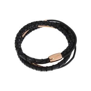 Feichtinger - Armband Leder, Stahl