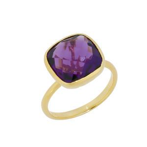 Feichtinger - Ring 925/-Silber vergoldet, Amethyst