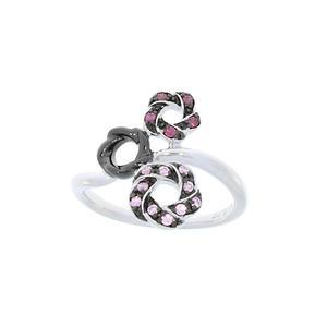 Feichtinger - Ring 925/-Silber rhodiniert, Zirkonia bunt