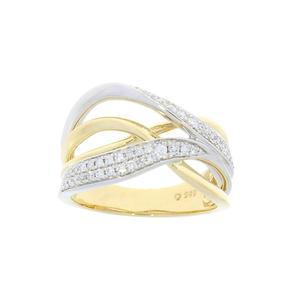 Feichtinger - Ring 585/-Bicolor, 0,32 ct. Brillant
