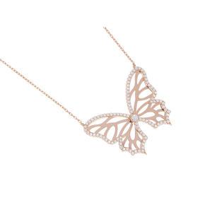 Feichtinger - Collier Schmetterling, 925/- Silber rhodiniert, teilweise rosé vergoldet
