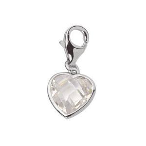 Feichtinger - Anhänger Herz mit Zirkonia, Silber 925, Karabiner