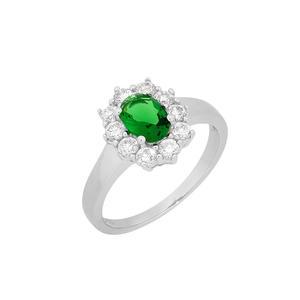 Feichtinger - Ring 925/-Silber rhodiniert, Zirkonia