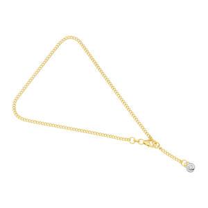 Feichtinger - Kette Fußketterl Gelbgold/Weißgold 14 Kt, Zirkonia