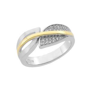 Feichtinger - Ring 925/- Silber rhodiniert, teilvergoldet