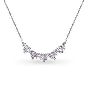 Feichtinger - Spark Collier 925/- Silber, rhodiniert nSwarovski Steine in weiss