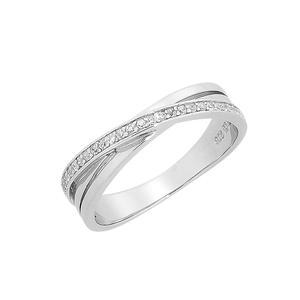 Feichtinger - Ring Ring Silber 925/000 rhodiniert, Zirkonia