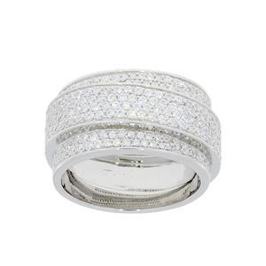 Feichtinger - Ring 925/-Silber, rhodiniert, Zirkonia