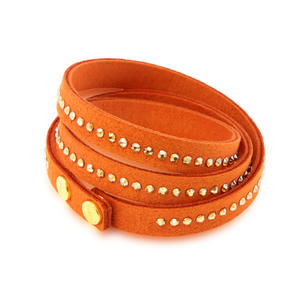 Feichtinger - Spark Armband orange nSwarovski Steine in weiss