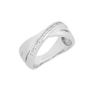Feichtinger - Ring Ring 14 Karat Weissgold, Zirkonia