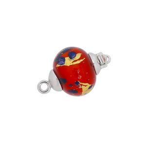 Feichtinger - Schliesse Schliesse mit Muranoglas, 925/- Silber, rhodiniert
