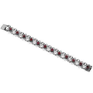 Feichtinger - Armband Trachten Armband mit Granat, 925/- Silber