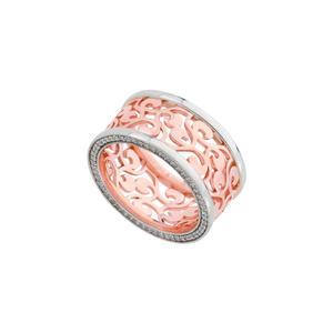 Feichtinger - Ring 925/- Silber, rhodiniert und rosé vergoldet