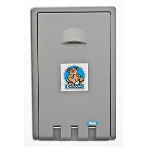Wickeltisch Koala KB101 mit integriertem Auflagenspender und Windeltaschenhalter - Grau