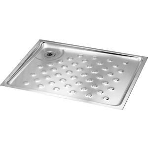Duschtasse CMPX401 zur Rohrfußbodenmontage aus Chromnickelstahl von - 90 x 90 cm