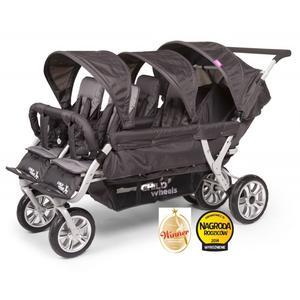 Childwheels Sportwagen für sechs Kinder inkl Regenschutz