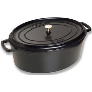Cocotte oval schwarz 33 cm