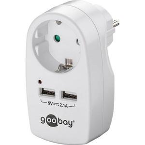 Schutzkontaktsteckdose 16A mit 2x USB-Port