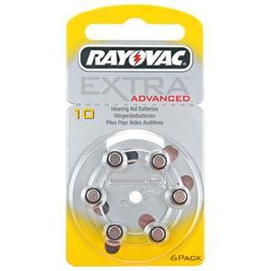 Rayovac Extra HA10, PR70, 4610 Hörgeräte Batterie 6-Pack, 105mAh