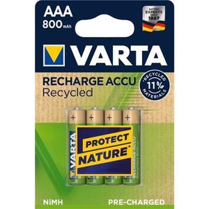 Varta 56813 Recharge Accu Recycled AAA/Micro Akku 4-Blister