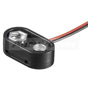 Batterieclip für 9Volt Block/6F22 Batterie oder Akku, T-Form